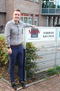 Marc Heijenga macht eine Ausbildung bei der MBW Group.